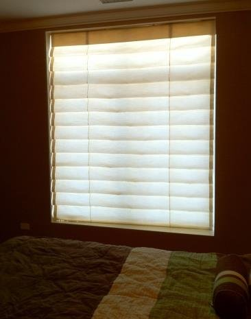 Signature Series Fabric Shade Style Hobbled Roman From Budget Blinds Of Batavia