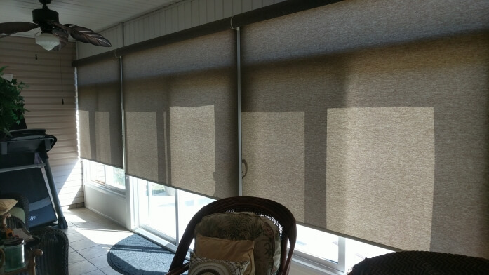 Norman Roller Shades For Your Sun Room