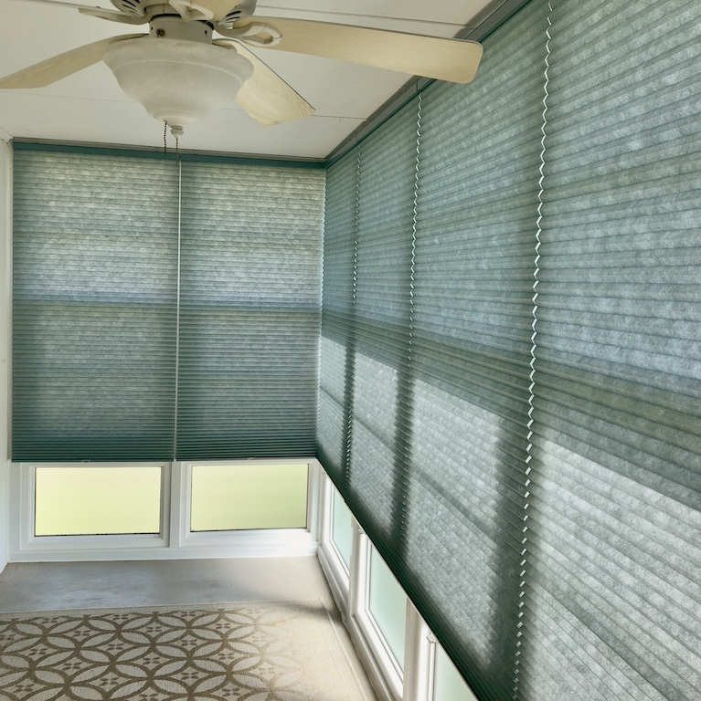 Norman Blue Honeycomb Cellular Shades