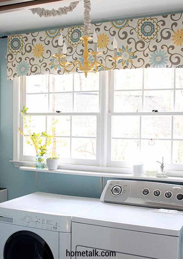 Curtains Can Be Used For More Than Just Window Coverings If Your Laundry Room Opens Up To Another Of Home And You D Rather Keep Dirty
