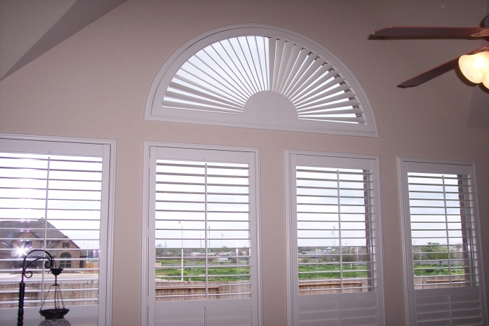 Plantation Shutters With Full Arched