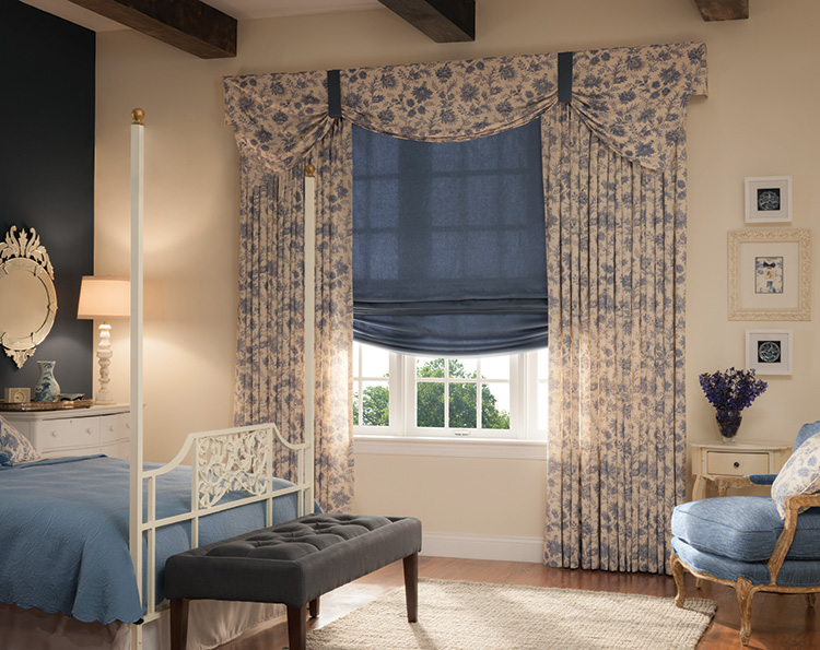 Can You Use Curtains with Roman Shades in Merrick at the Same Time?