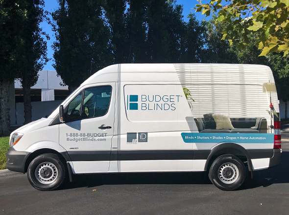Budget Blinds installation van