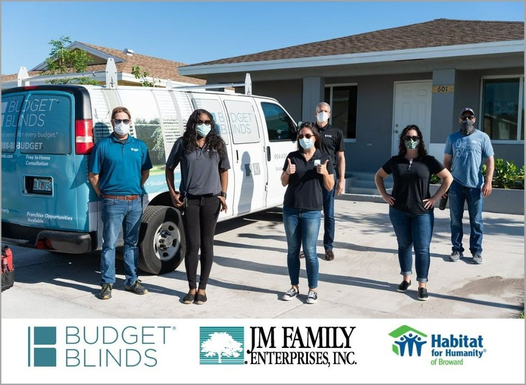 Budget Blinds and JM Family Helping with Habitat for Humanity