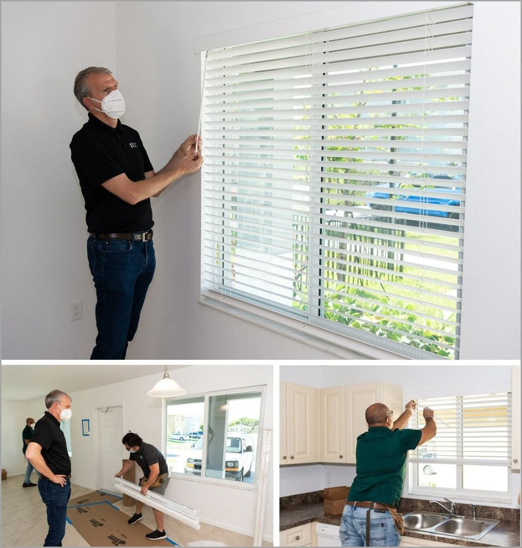 Installing Blinds in Home