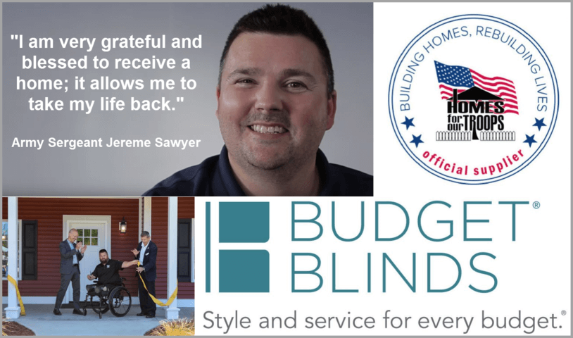 Budget Blinds Helps To Normalize Everyday Life For Severely Injured Veterans