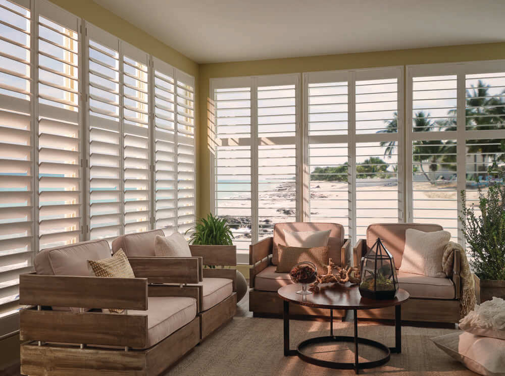 Polyresin Shutters in Sunroom
