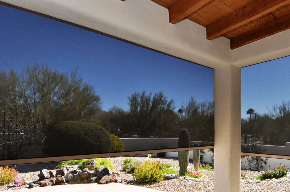 Solar Shades on Patio