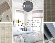 Five Reasons to Choose Custom Window Treatments