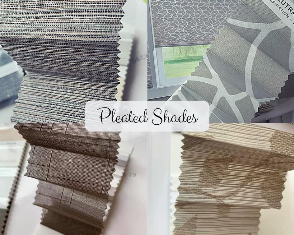 Pleated Shade Samples