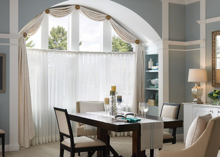 Drapery in Dining Room