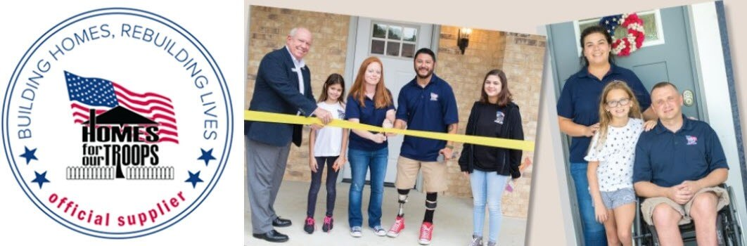 SSGT Omar Milan and SSG Carl Moore with their families on Key Ceremony day, September 29, when they both received their new homes (read their stories below)