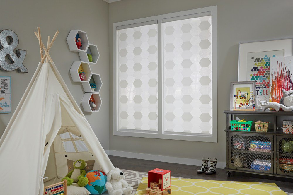 Roller Shades in Playroom