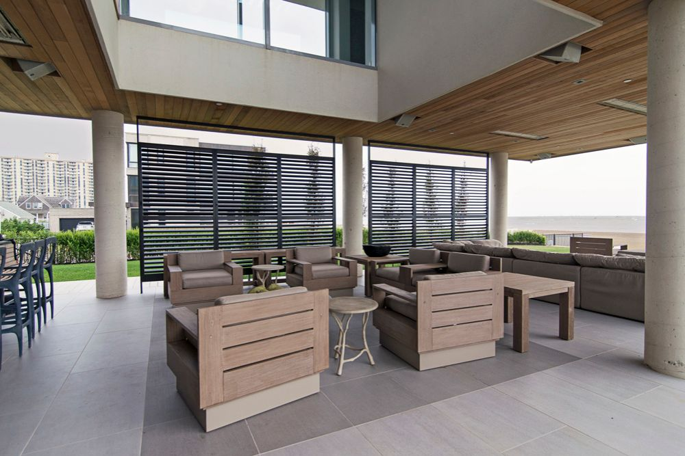 Aluminum Shutters on Patio