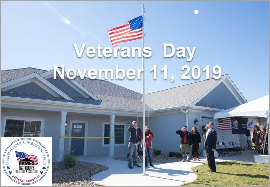 Veterans Day 2019 Honors Severely Injured Veterans With Specially Adapted Homes