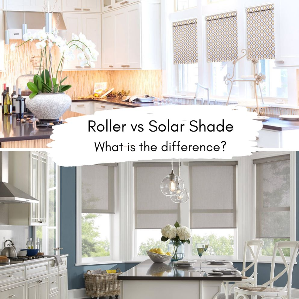 Solar and Roller Shades in Kitchen