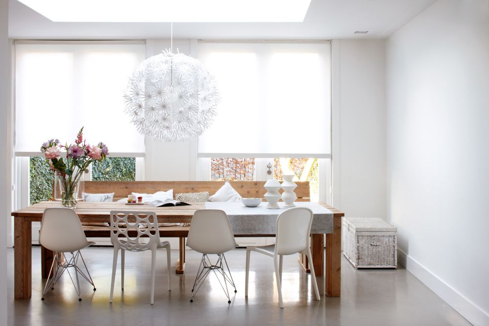 Roller Shades In Dining Room