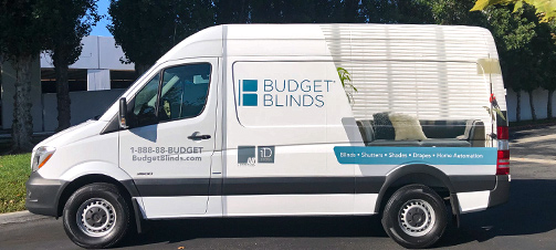 Budget Blinds installer van