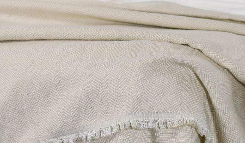 Light Weight Throw Blanket Beige
