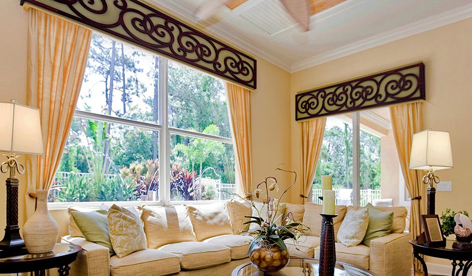 G Budget Blinds Faux Iron Tableaux Cornice