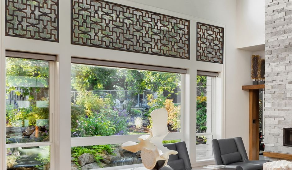 decorative grille in living room