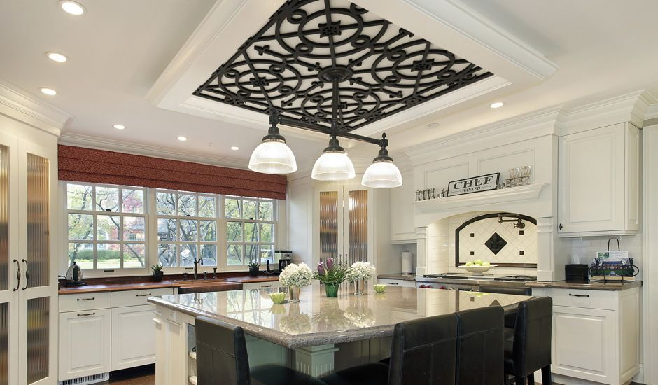 decorative grille in kitchen