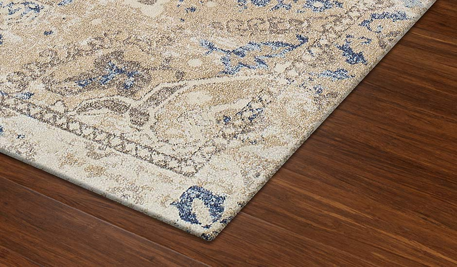 Antigua Linen Polypropylene Floor Rug