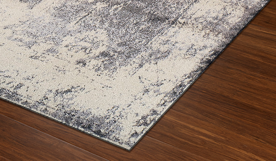 Antiquity Grey Polypropylene Floor Rug