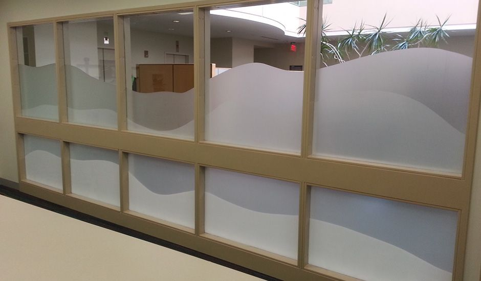 Commercial Decorative Functional Window Film Boston Hospital