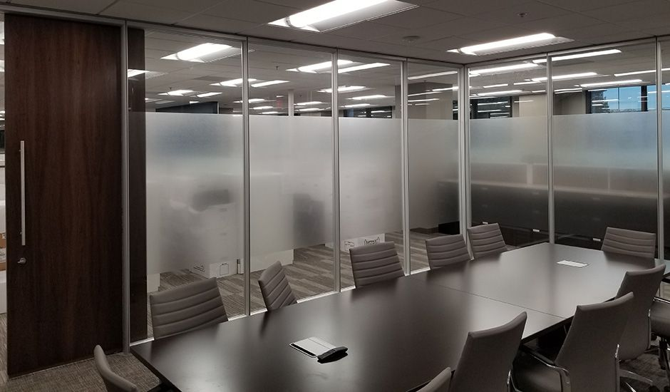 Frosted Glass Window Film Office Boardroom