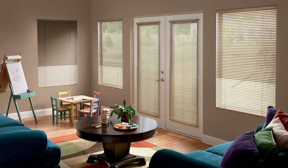 Aluminum Blinds Family Room