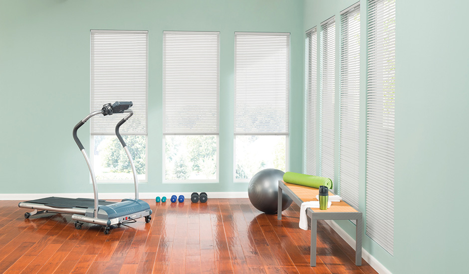 Aluminum Blinds Workout Gym Room