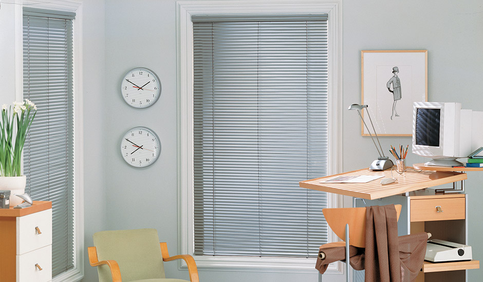 Aluminum Blinds Home Office Room