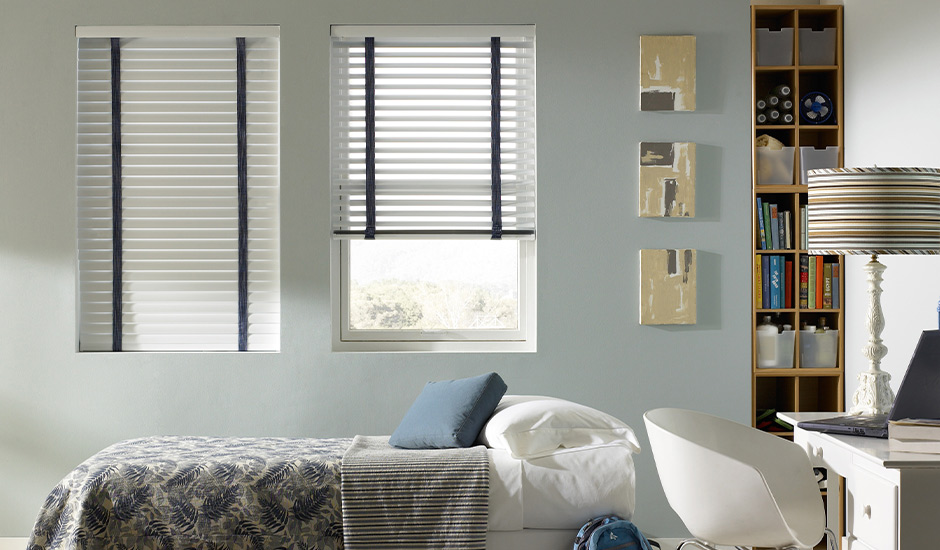 Metro Aluminum Blinds Lafayette Bedroom