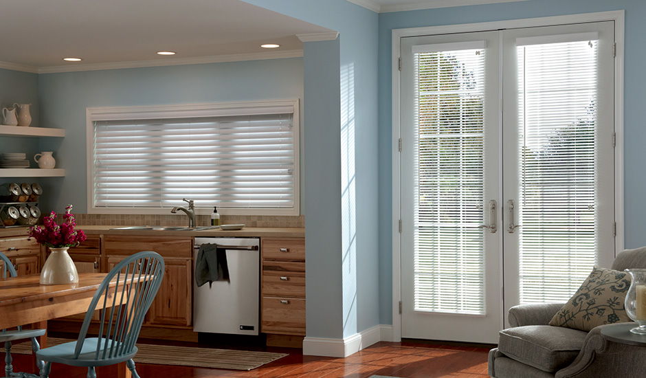 GH-Budget Blinds Composite Blinds Kitchen French Doors