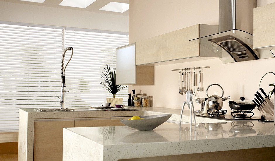 Budget Blinds White Blinds Kitchen