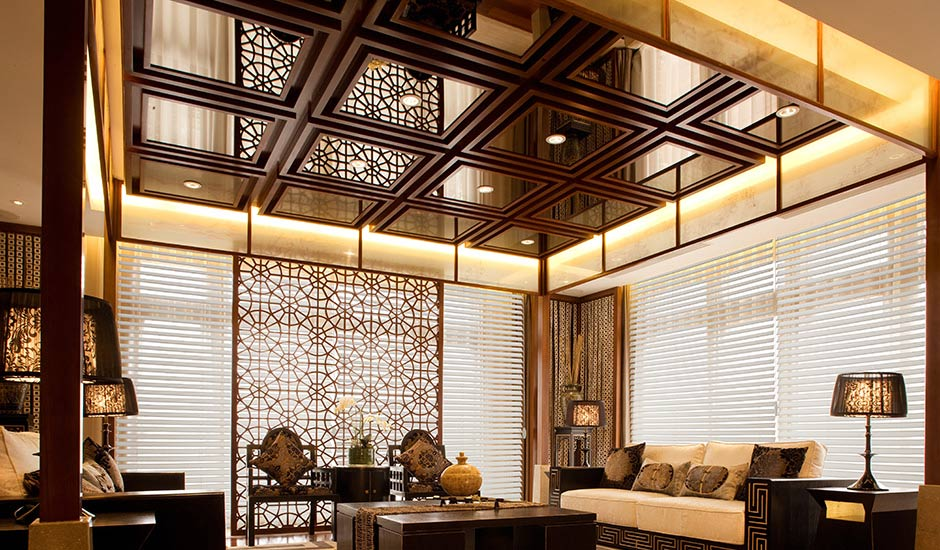 Budget Blinds White Blinds Luxury Living Room