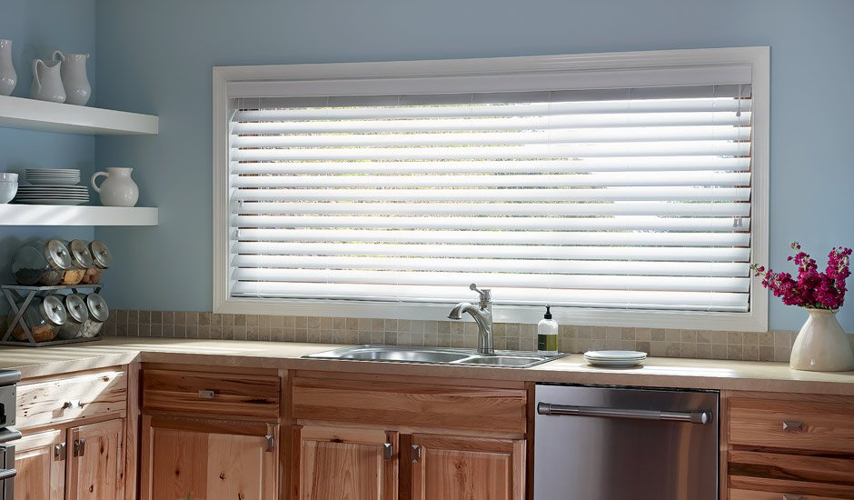 Faux Wood Blinds Signature Series Kitchen