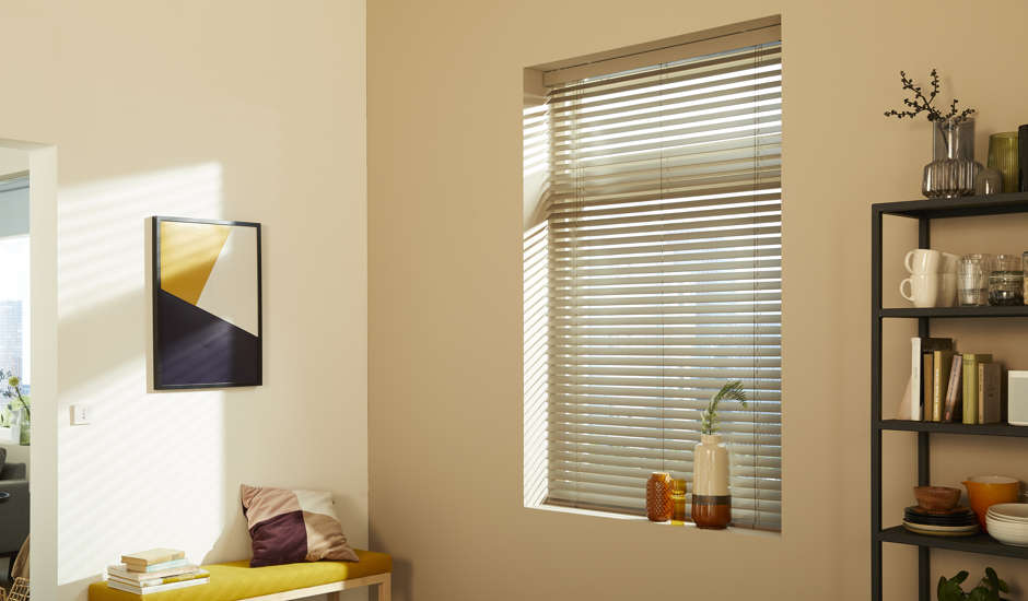 Motorized Blinds in Living Room