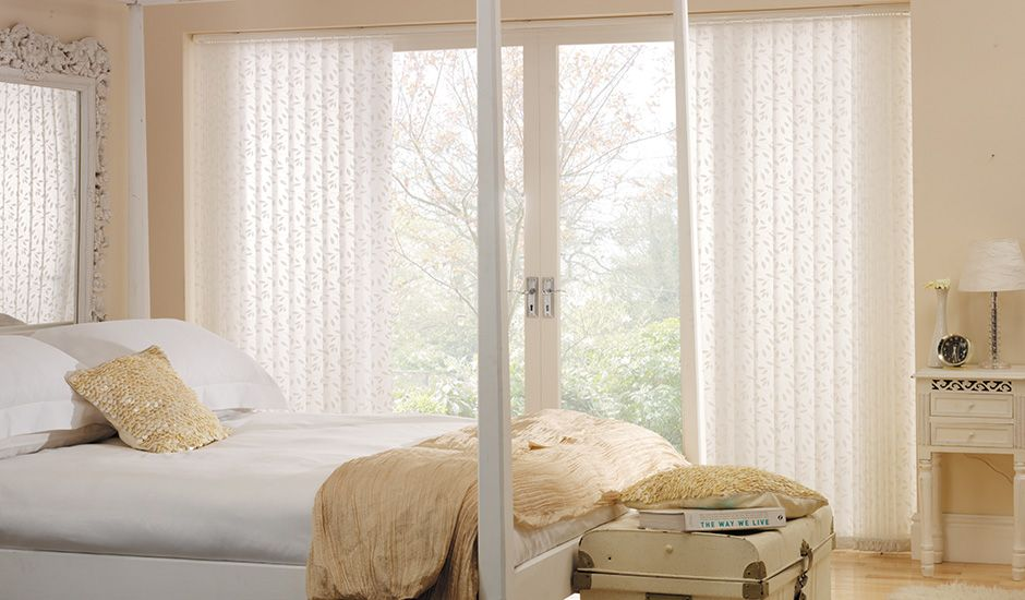 Chatsworth White Vertical Blinds Mera Bedroom