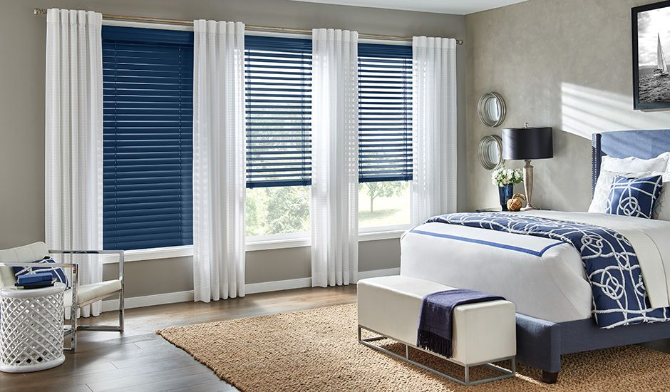 Budget Blinds Custom Color Wood Blinds Bedroom