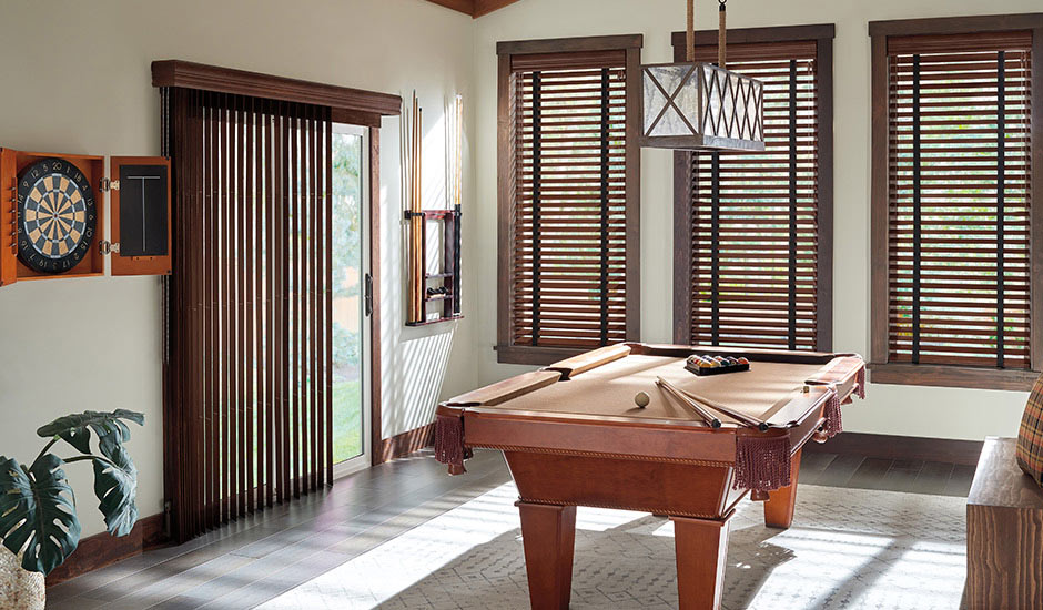 dark-wood-blinds-and-vertical-wood-blinds-door
