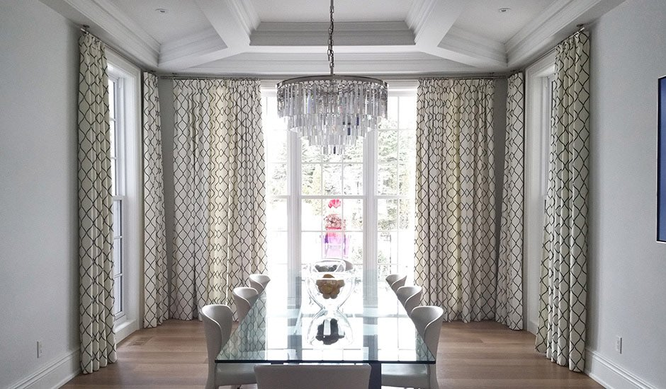 Budget Blinds Drapery Panels Dining Room