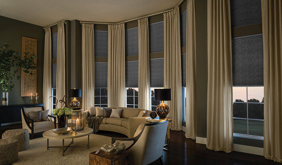 Budget Blinds Drapery Panels Living Room