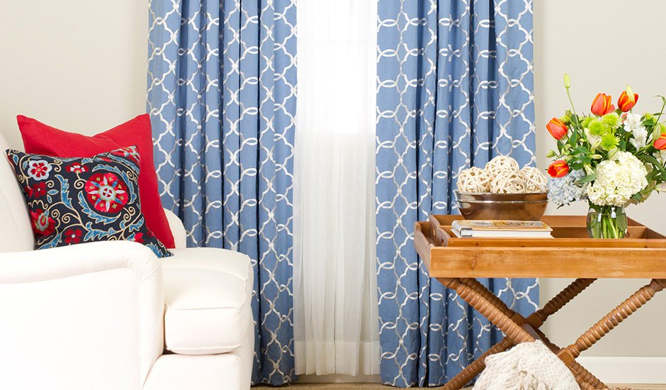 Budget Blinds Drapery Panels Sitting Room