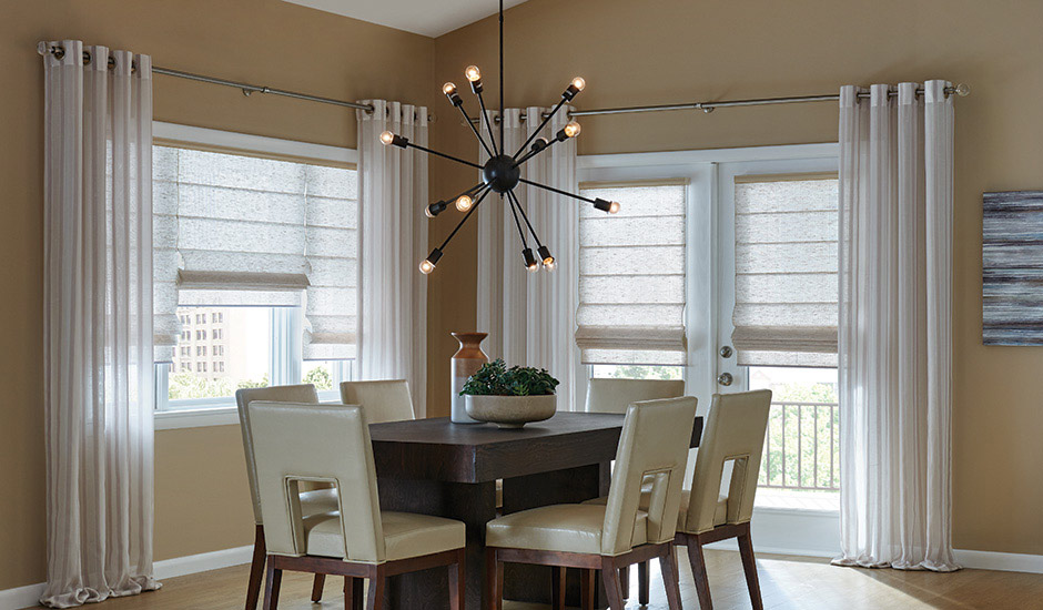 GALLERY-HERO Budget Blinds Drapery Panels Dining Room
