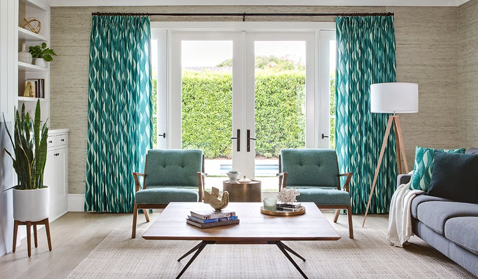 patterned-teal-and-blue-drapes