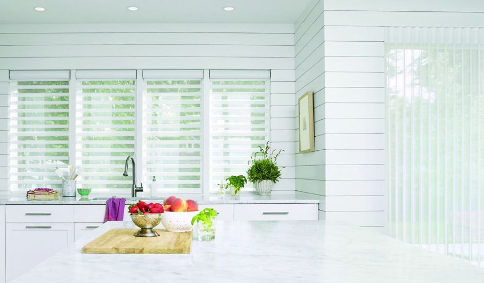 window shadings in kitchen