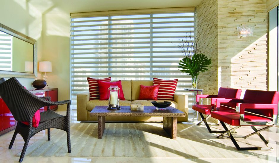 window shadings in living room