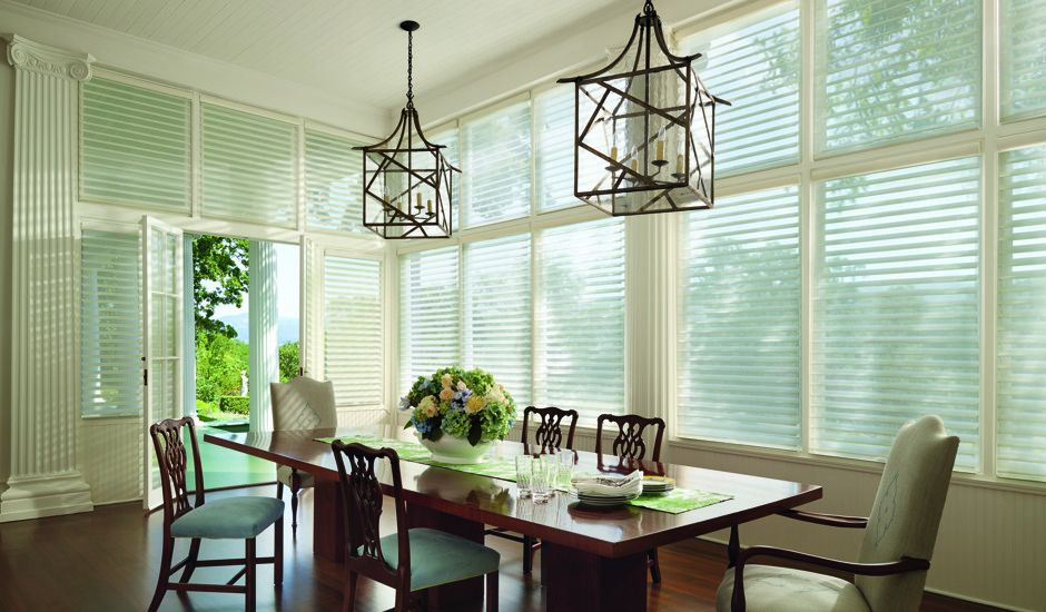 window shadings in dining room